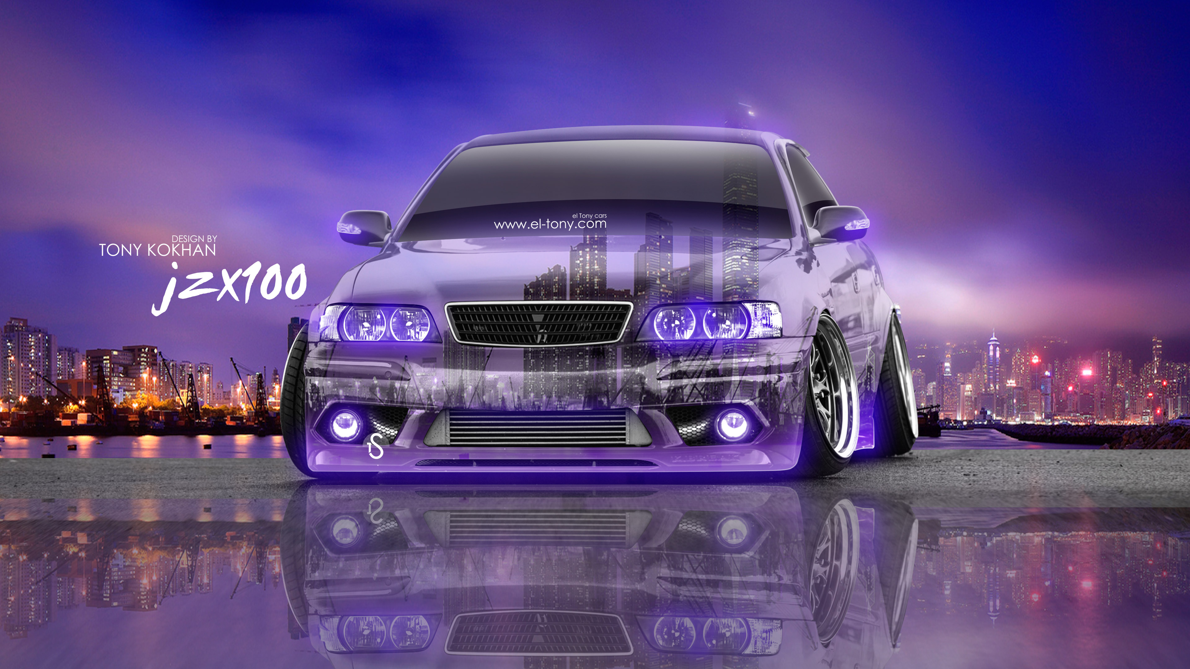 Wonderful Toyota Chaser JZX100 JDM Tuning 3D Crystal City