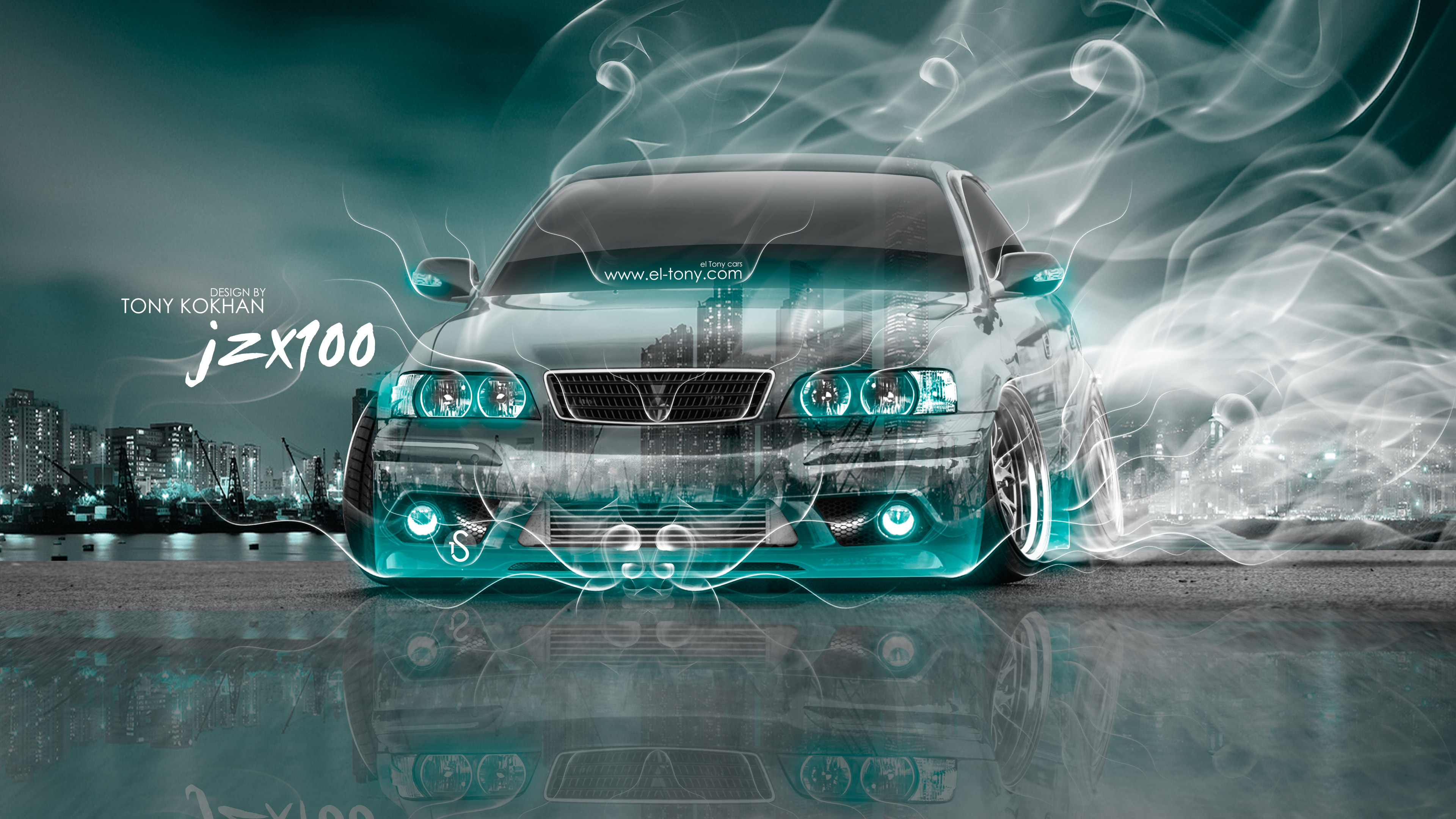 ... Toyota Chaser JZX100 JDM Tuning 3D Crystal City  ...