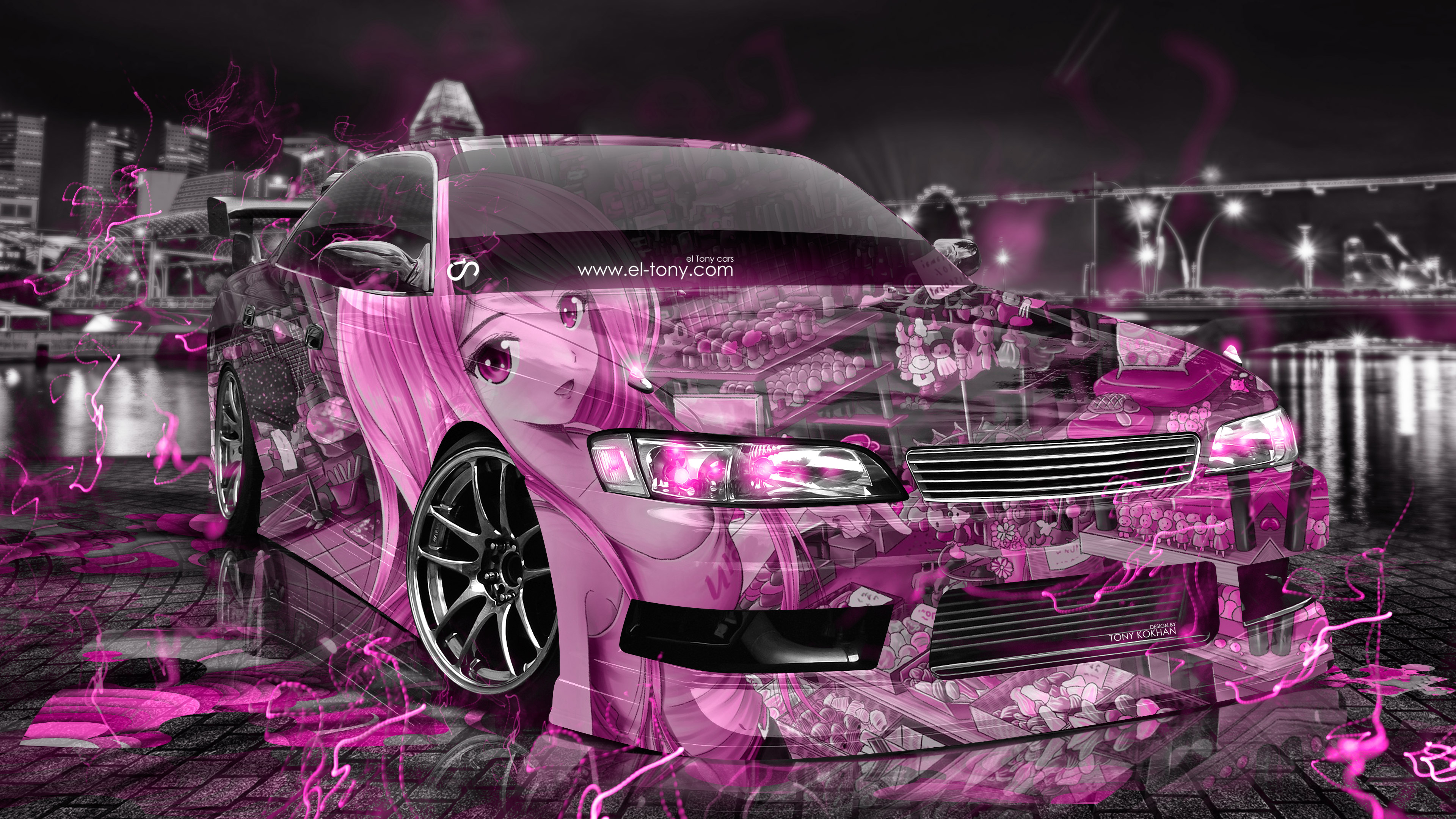 Toyota Mark2 JZX90 JDM Tuning 3D Anime Girl