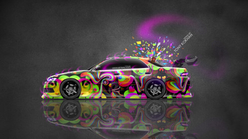 Toyota-Mark2-JZX90-JDM-Tuning-Side-Abstract-Aerography-Domo-Kun-Toy-Car-2016-Multicolors-4K-Wallpapers-design-by-Tony-Kokhan-www.el-tony.com-image
