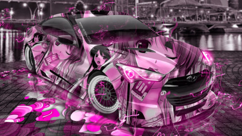 Hyundai-Genesis-Coupe-Tuning-3D-Anime-Girl-Aerography-City-Night-Energy-Car-2016-Creative-Art-Pink-Neon-Colors-4K-Wallpapers-design-by-Tony-Kokhan-www.el-tony.com-image