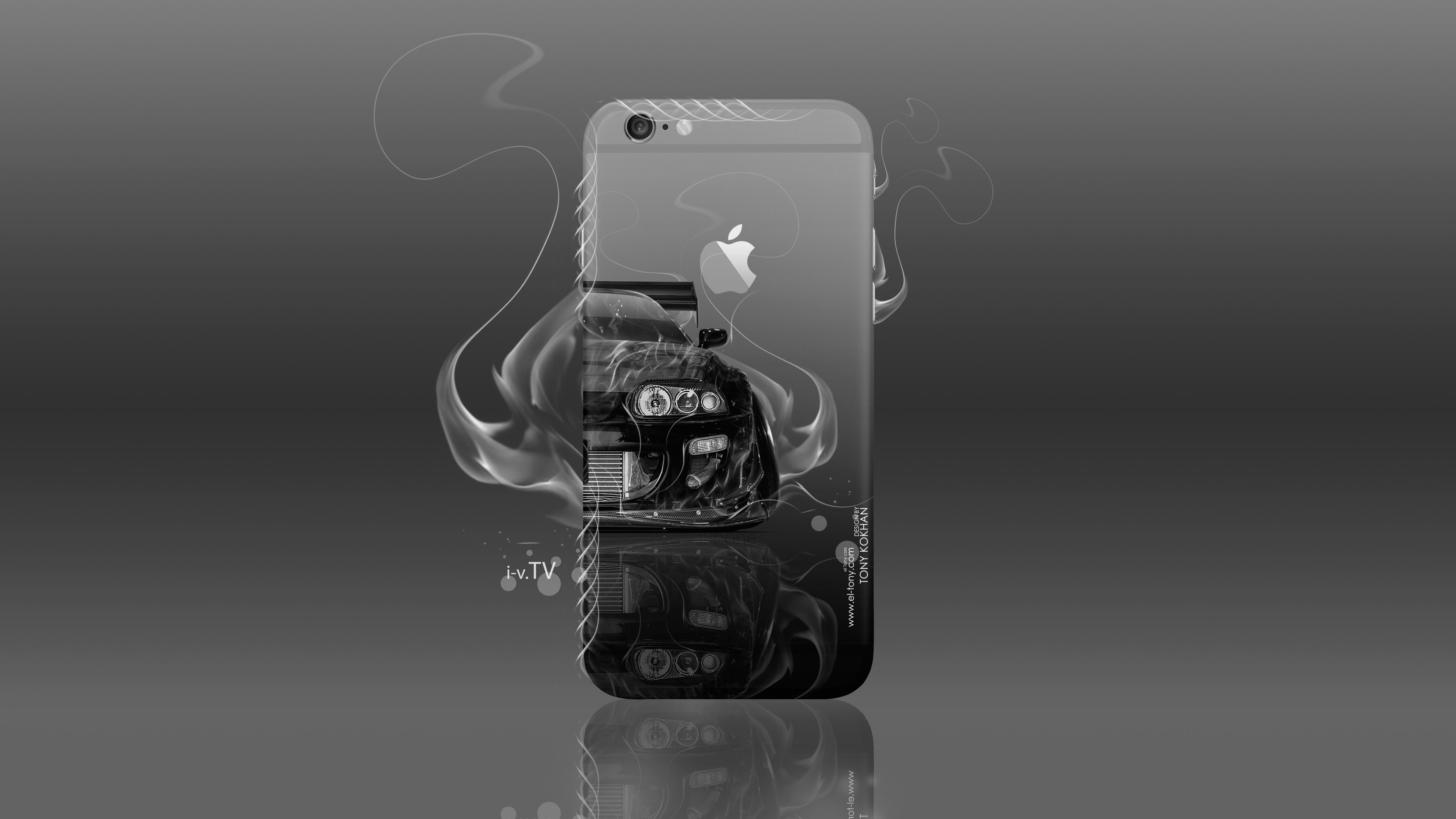 Charmant Apple IPhone 6 Plus Toyota Supra JDM Tuning Front Fire Car 2016