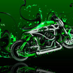 Monster Energy Moto Yamaha Side Super Plastic Acid Bike 2017