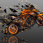 Moto KTM LC8 Austin Racing Side Super Abstract Angle Bike 2017
