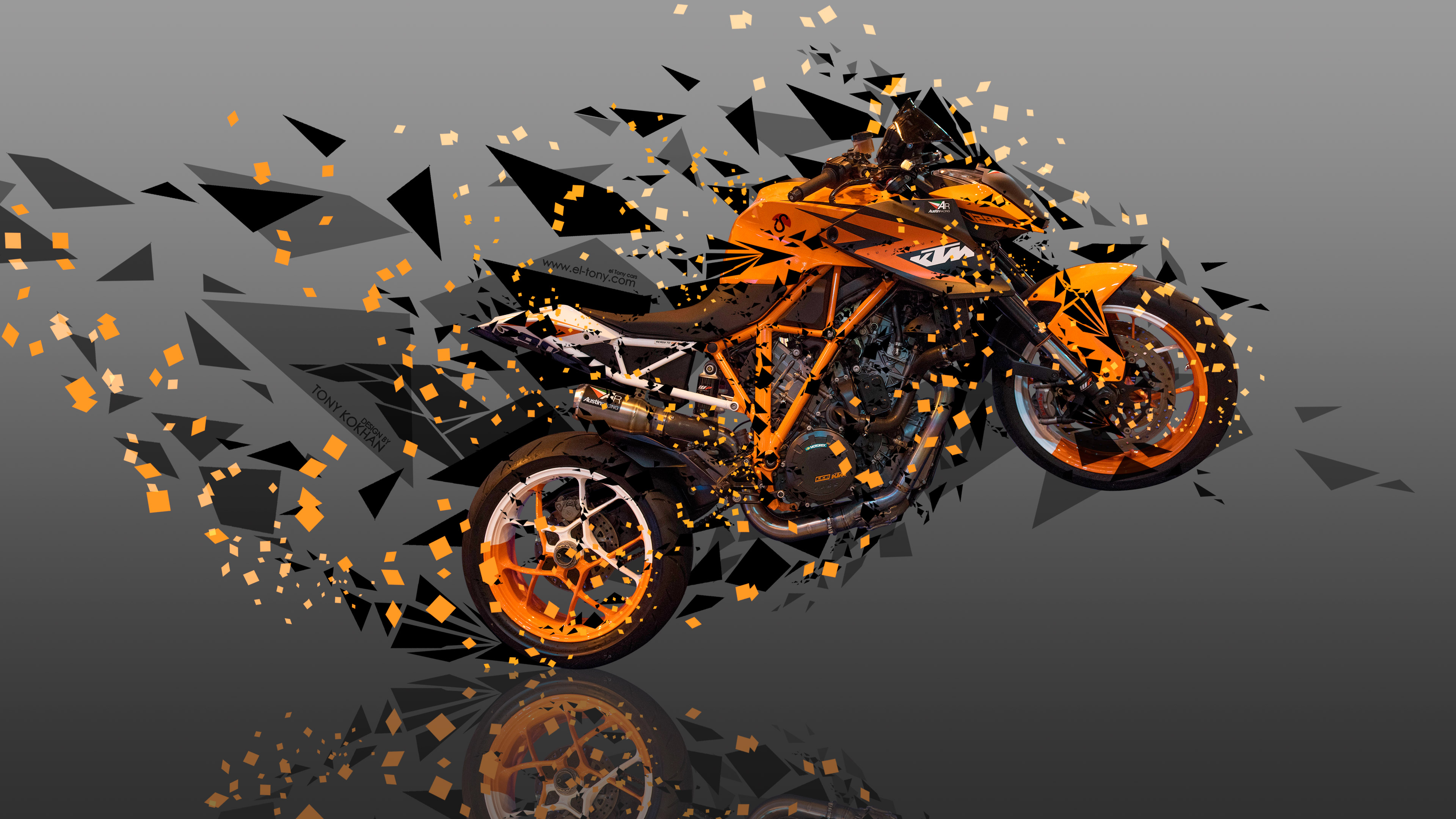 ... Moto KTM LC8 Austin Racing Side Super Abstract Angle Bike 2017
