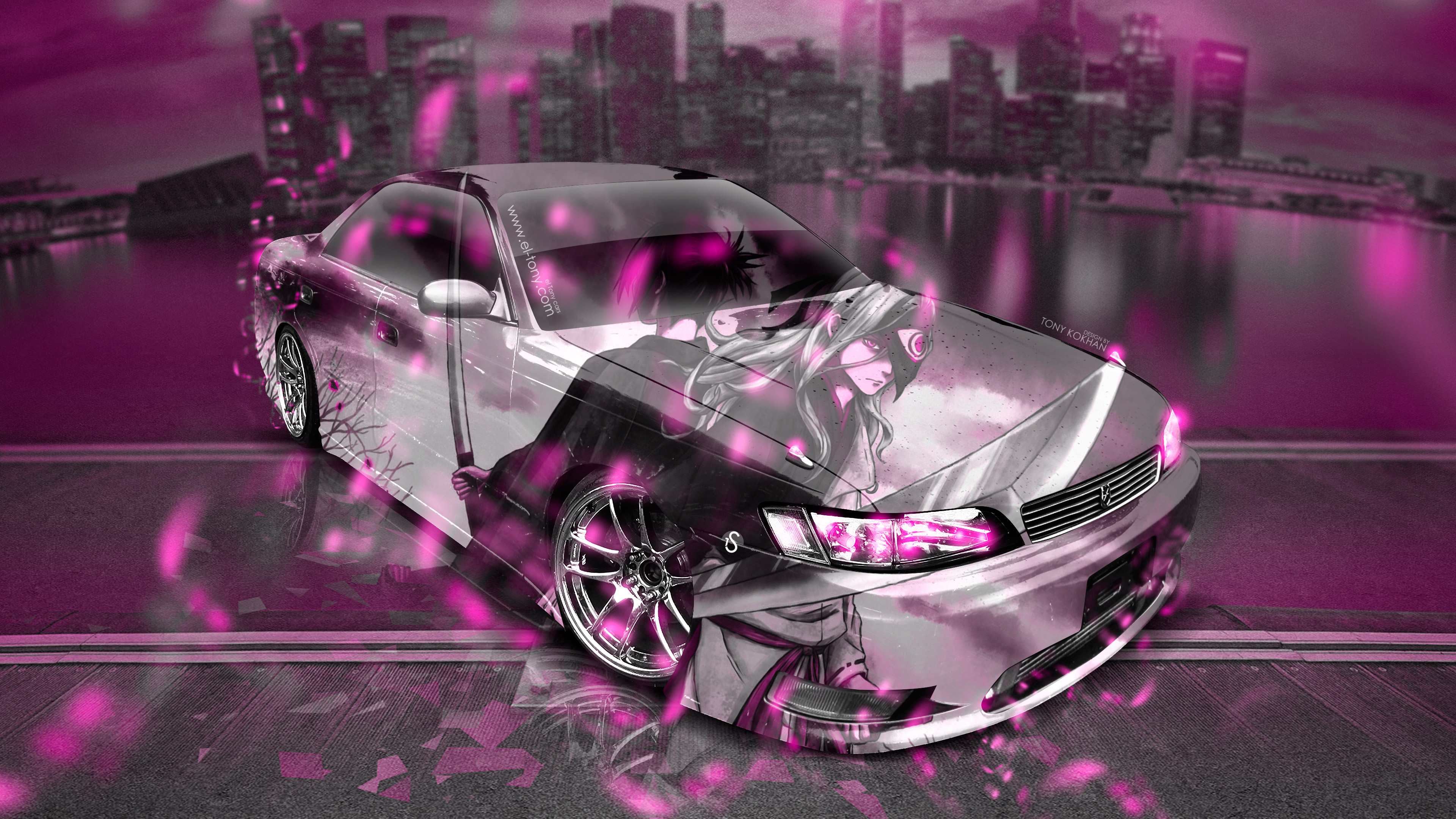 Amazing Toyota Mark2 Jzx90 Jdm Tuning Anime Samurai Night City Car 2