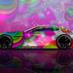 Mazda RX Vision Concept Side Super Abstract Aerography Art Car 2017