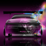Toyota Mark2 JZX90 JDM Tuning Back Anonymous Super Abstract Aerography Art Car 2017