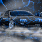 Toyota Supra JZA80 JDM Tuning Super Smoke Night Car 2017