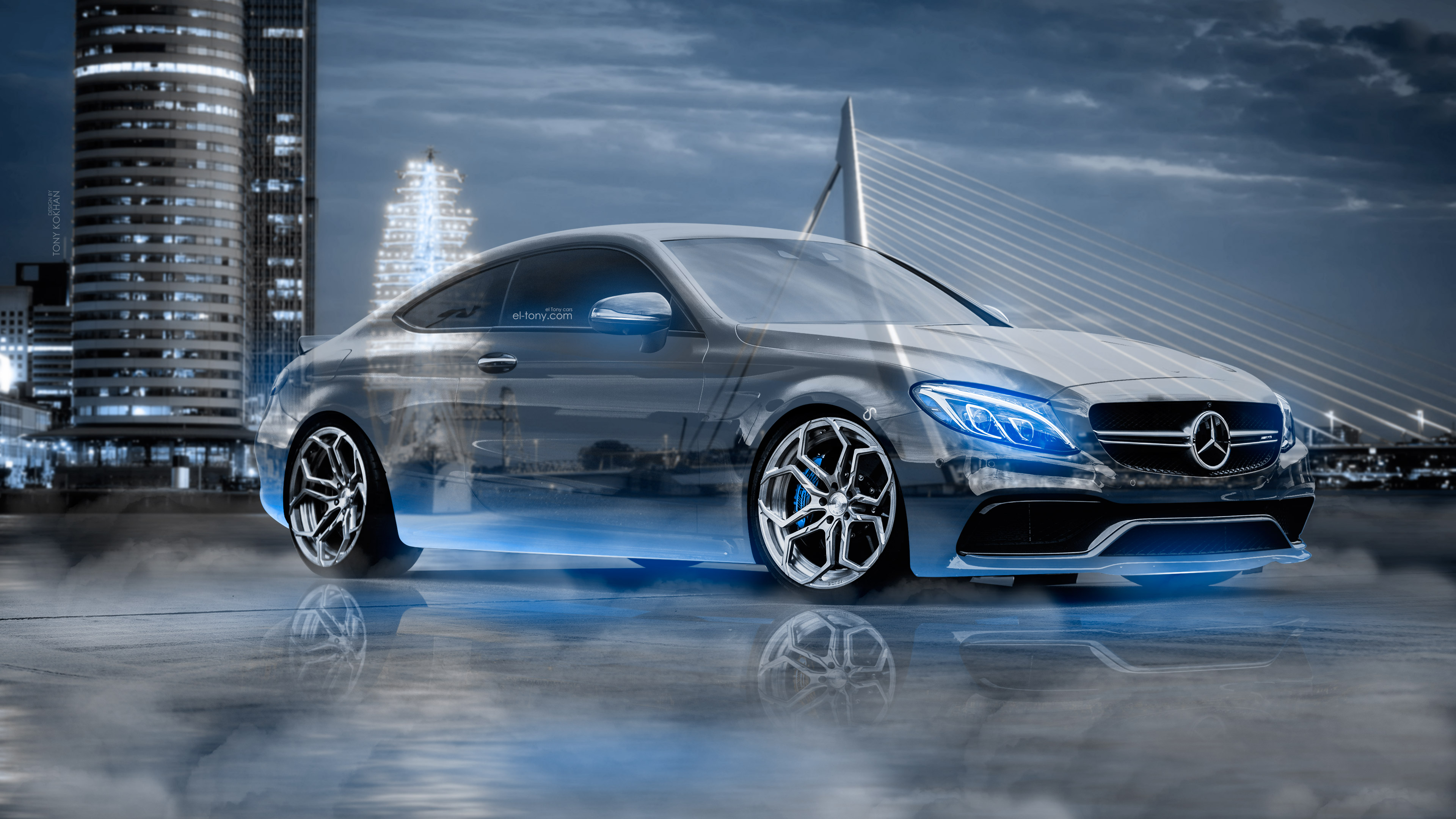 Mercedes Benz C63s Amg Сoupe Crystal City Rotterdam