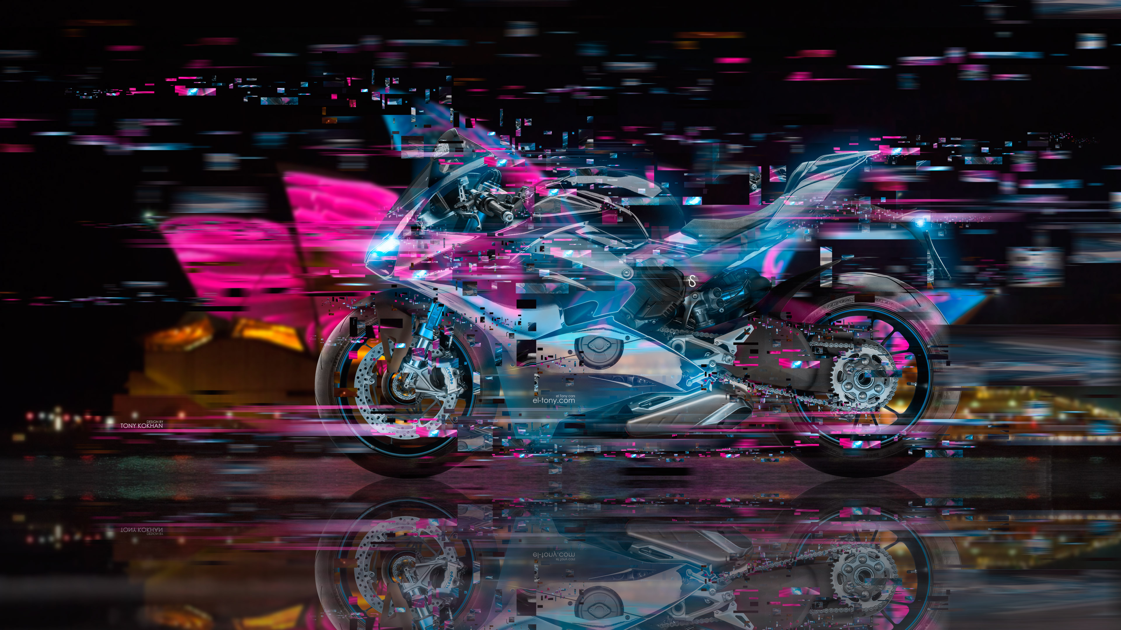 Suzuki Hayabusa Fantasy Fire Panther 2013 · Moto Ducati Panigale V4 Super  Crystal City Night Singapore Neural Network Art Bike 2018