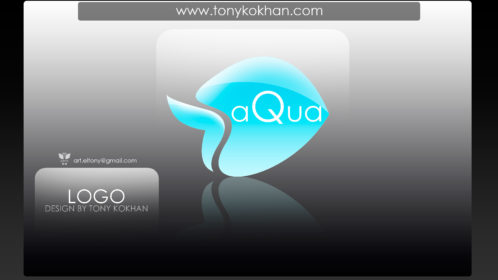 Logo-design-by-Tony-Kokhan-Aqua-Azure-Fish-Figure-Word-2018-Wallpapers-4K-el-Tony-Services-www.el-tony.com-image