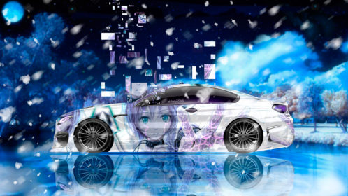 BMW-M6-Hamann-Tuning-Side-Super-Anime-Girl-Neural-Network-Square-Winter-Moon-Nature-Art-Car-2018-Violet-Blue-White-Colors-4K-Wallpapers-design-by-Tony-Kokhan-www.el-tony.com-image