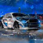 Ford Mustang Shelby Muscle Anime Girl Butterfly Aerography Neural Network Square Effects Art Car 2018