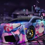Lamborghini Gallardo Super Anime Girl Candy Aerography Neural Network Night City Art Car 2018