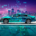 Volkswagen Phideon Side Super Anime Girl Boy Aerography Neural Network Square Sea Water City Art Car 2018