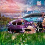 BMW M3 E92 Super Anime Girl Aerography Japanese Hieroglyph Nature Grass Art Car 2019