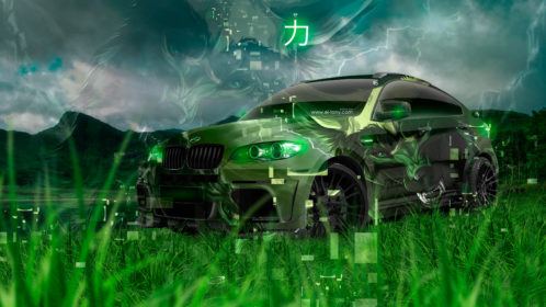 BMW-X6-Hamann-Tuning-Super-Anime-Power-Wolf-Animal-Aerography-Lightning-Japanese-Hieroglyph-Nature-Art-Car-2019-Multicolors-8K-Wallpapers-design-by-Tony-Kokhan-www.el-tony.com-image