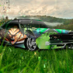 Dodge Charger SRT Muscle Anime Broly Dragon Ball Rage Aerography Japanese Hieroglyph Nature Car 2019