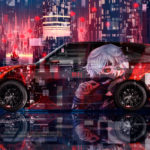 Land Rover Range Rover Japanese Hieroglyph Super Anime Ken Kaneki Love Victory Night City Art Car 2019
