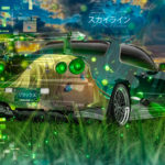 Nissan Skyline GTR R34 JDM Tuning Super Anime Girl Aerography TonySoul Nature Art Car 2019
