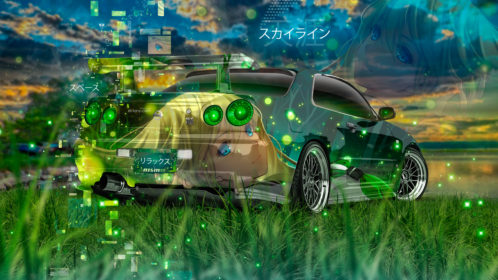 Nissan-Skyline-GTR-R34-JDM-Tuning-Super-Anime-Girl-Aerography-Nature-Art-Car-2019-Multicolors-8K-Wallpapers-design-by-Tony-Kokhan-www.el-tony.com-image