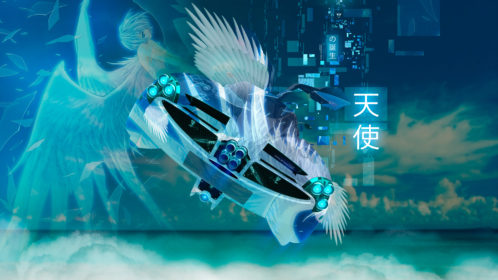 Pagani-Huayra-Super-Anime-Girl-Aerography-Angel-Birth-Neural-Network-Square-Sky-Fly-Clouds-Art-Car-2019-Multicolors-8K-Wallpapers-design-by-Tony-Kokhan-www.el-tony.com-image