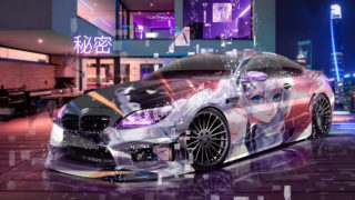 BMW-M6-Hamann-Tuning-Super-Anime-Girl-Secret-Home-Interior-Neon-Night-City-Art-Car-2019-Multicolors-8K-Wallpapers-design-by-Tony-Kokhan-www.el-tony.com-image