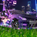 Nissan GTR R35 JDM Super Anime Girl Aerography Surprise TonySoul Night Shanghai China City Car 2019