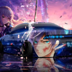 Toyota Mark2 JZX90 JDM Tuning 3D Super Anime Girl Boy Love Samurai Aerography Art Car 2019