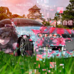 Toyota Mark2 JZX90 JDM Tuning Anime Girl Aerography Confidence Japanese Hieroglyph Nature Grass Car 2019