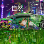 Lamborghini Huracan Mansory Tuning Anime Girl Nature City Japanese Hieroglyph TonySoul Art Car 2019