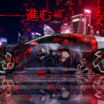 Bugatti La Voiture Noire Super Anime Ken Kaneki Super Love Victory Move On TonySoul Night City Art Car 2019