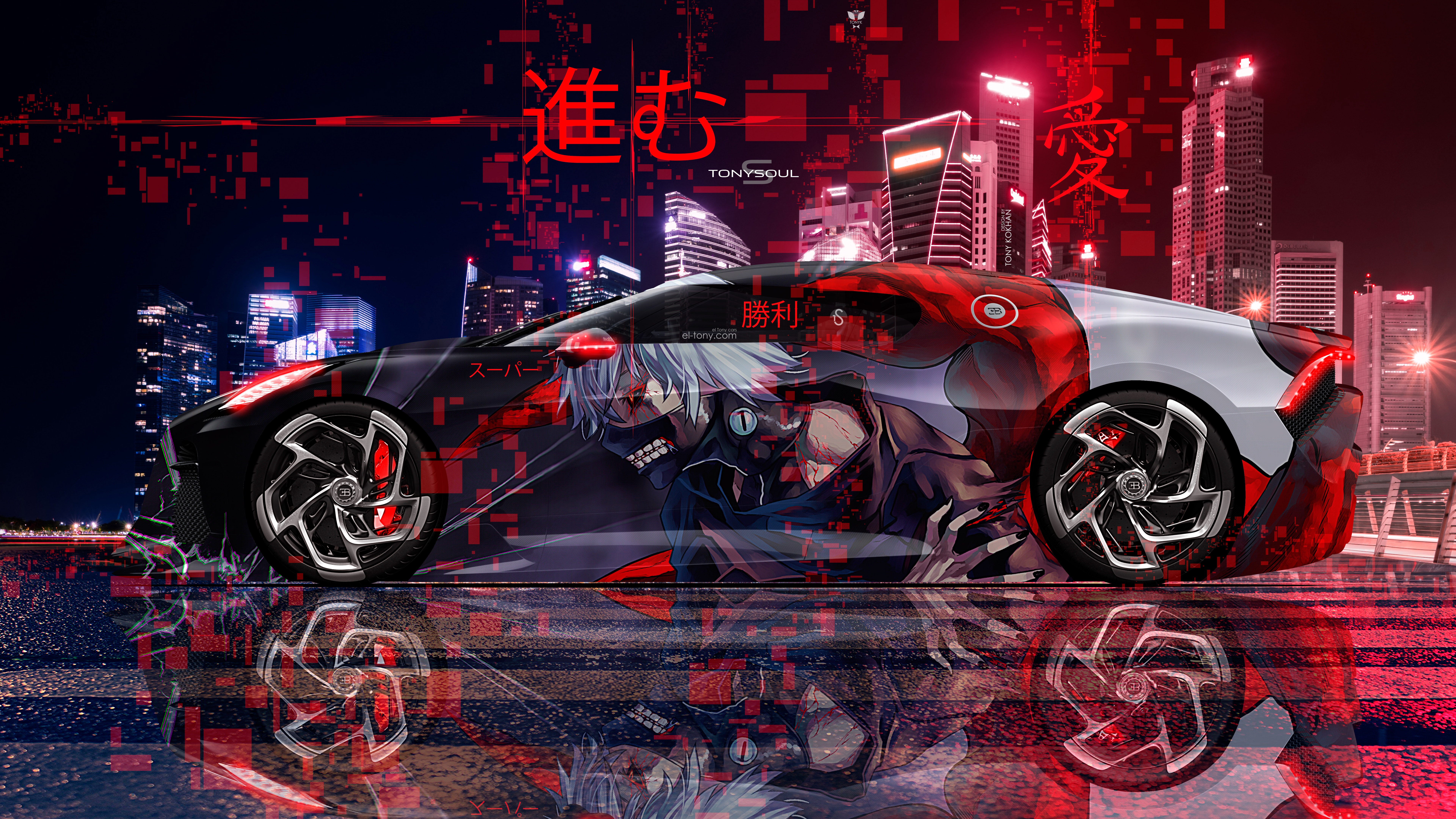 Bugatti-La-Voiture-Noire-Super-Anime-Ken-Kaneki-Super-Love-Victory-Move-On-TonySoul-Night-City-Art-Car-2019-Multicolors-8K-Wallpapers-design-by-Tony-Kokhan-www.el-tony.com-image