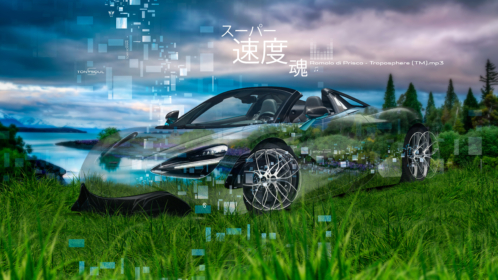 McLaren-720S-Spider-Crystal-Nature-Sky-Super-Speed-Soul-Japanese-Hieroglyph-Art-Car-2019-Multicolors-8K-Wallpapers-design-by-Tony-Kokhan-www.el-tony.com-image