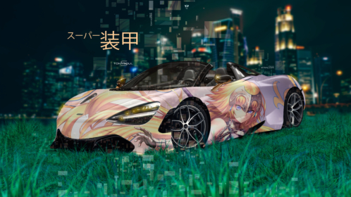 McLaren-720S-Spider-Super-Anime-Girl-Aerography-Japanese-Hieroglyph-Armor-TonySoul-Night-Art-Car-2019-Multicolors-8K-Wallpapers-design-by-Tony-Kokhan-www.el-tony.com-image