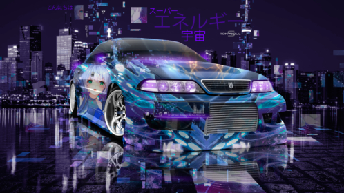 Toyota-Mark2-JZX100-JDM-Tuning-Super-Anime-Girl-Universe-Energy-Night-City-TonySoul-Art-Car-2019-Blue-Violet-Black-8K-Wallpapers-design-by-Tony-Kokhan-www.el-tony.com-image