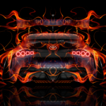 Toyota Supra A90 JDM Tuning Back Super Fire Flame Abstract Art Car 2019
