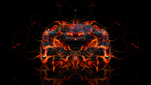 Ferrari-488-Pista-Back-Super-Fire-Flame-Abstract-Art-Car-2019-Red-Yellow-Orange-Black-Colors-8K-Wallpapers-design-by-Tony-Kokhan-www.el-tony.com-image