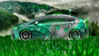 Toyota-Prius-Side-Super-Anime-Girl-Neko-Nya-by-Umio-Kimura-Aerography-Relax-Nature-Grass-TonySoul-Art-Car-2019-Multicolors-8K-Wallpapers-design-by-Tony-Kokhan-www.el-tony.com-image