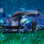 Chevrolet Corvette Z06 Super Anime Boy Lelouch and Bird Super Soul TonySoul Night City Canada Toronto Art Car 2019