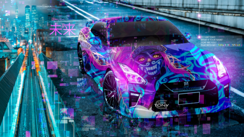 Nissan-GTR-R35-JDM-KDA-Akali-League-of-Legends-Aerography-TonySoul-Super-Future-Universe-TonyCode-Art-Car-2019-Multicolors-8K-Wallpapers-design-by-Tony-Kokhan-www.el-tony.com-image