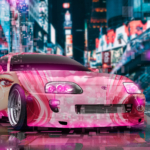 Toyota Supra JZA80 JDM Tuning 3D Super Sugar Girl Love Heart Universe TonySoul Night City TonyCode Car 2019