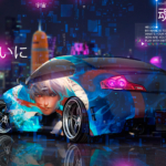 Nissan Skyline JDM Tuning Infiniti G37 Super Anime Kakashi Sharingan Naruto Battle Night City TonyCode TonySoul Car 2019