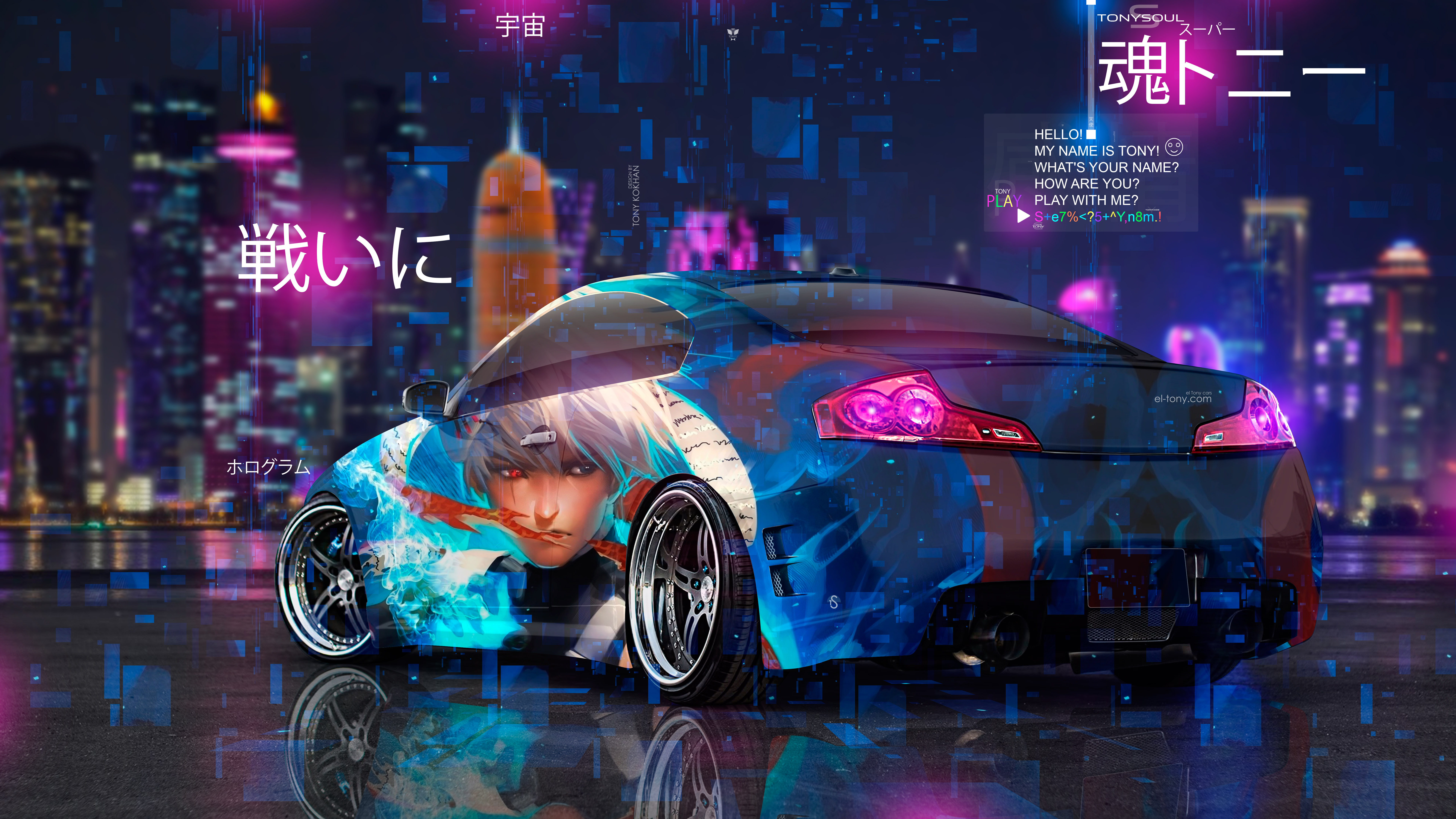 Nissan-Skyline-JDM-Tuning-Infiniti-G37-Super-Anime-Kakashi-Sharingan-Naruto-Battle-Night-City-TonyCode-TonySoul-Car-2019-Multicolors-8K-Wallpapers-by-Tony-Kokhan-www.el-tony.com-image