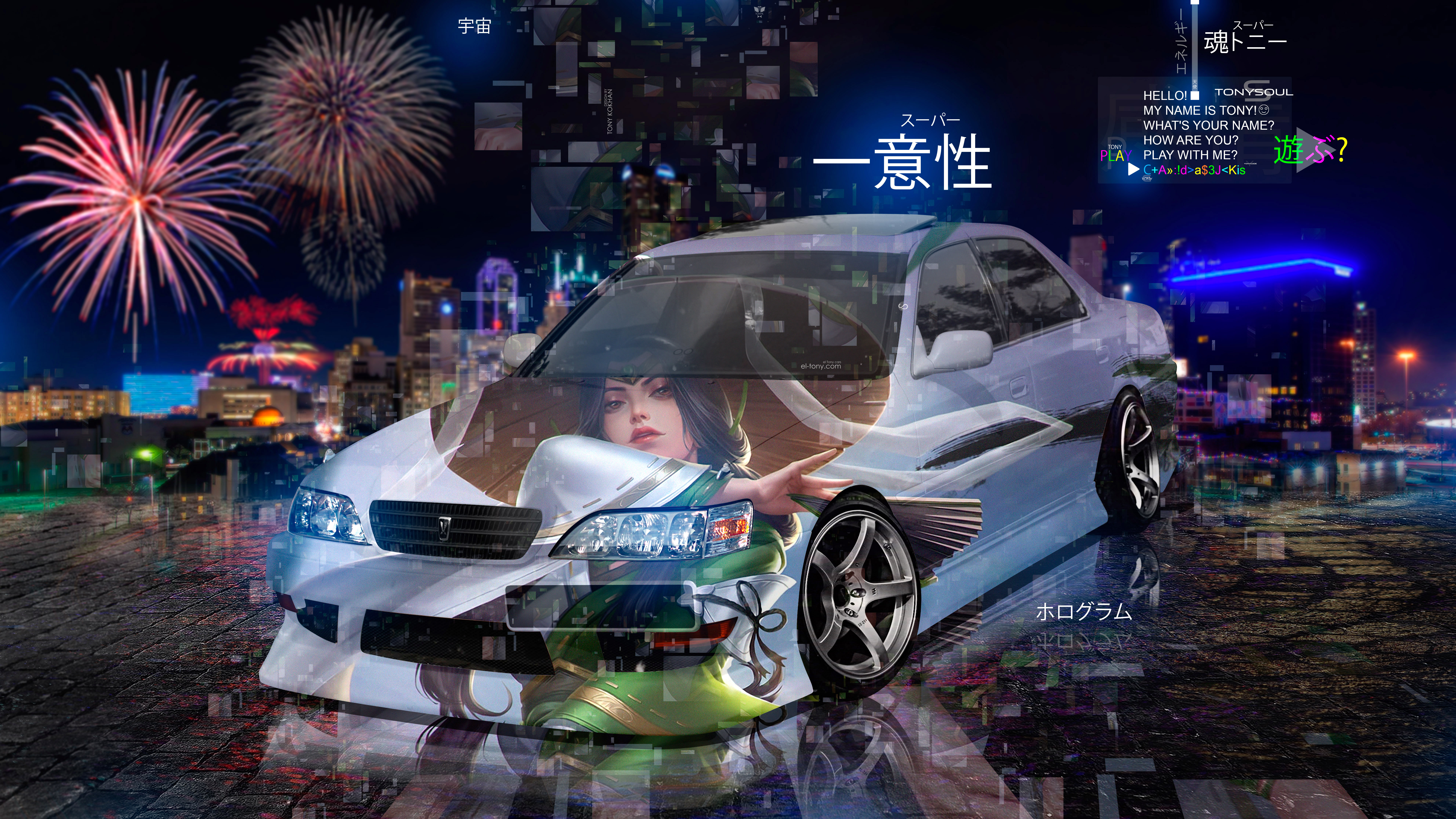 Toyota-Cresta-JZX100-JDM-Tuning-Anime-Girl-Super-Uniqueness-TonySoul-Universe-TonyCode-Night-City-Art-Car-2020-Multicolors-8K-Wallpapers-design-by-Tony-Kokhan-www.el-tony.com-image