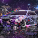 Toyota Chaser JZX100 JDM Super Anime Girl Perseverance TonySoul Artificial Intelligence TonyCode Night City Art Car 2020