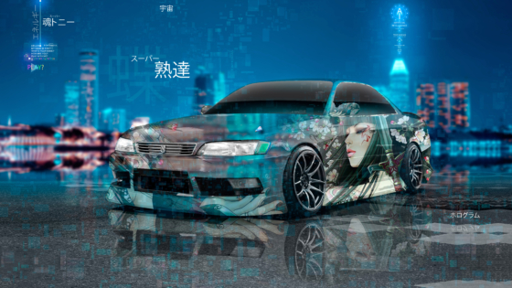 Toyota-Mark2-JZX90-JDM-Super-Anime-Girl-Samurai-Mastery-Universe-TonySoul-Artificial-Intelligence-TonyCode-Art-Car-2020-Multicolors-8K-Wallpapers-by-Tony-Kokhan-www.el-tony.com-image