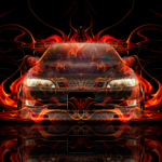 Toyota Mark2 JZX90 JDM Tuning Front Super Fire Flame Energy Japanese Hieroglyph Art Car 2020