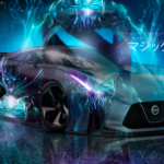 Nissan GTR 2020 Super Aerography Phantom Assassin Dota 2 Game Universe Magic Invulnerability TonySoul Art Car 2020